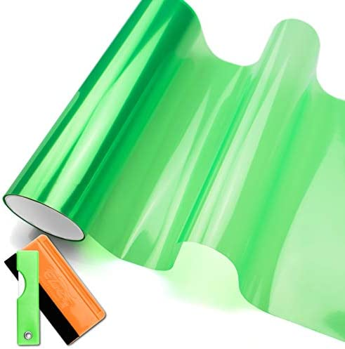 JDMBESTBOY Free Tool Kit 12 x12 1FT x 1FT Glossy Emerald Green Tint Headlight Fog Lights Taillight product image