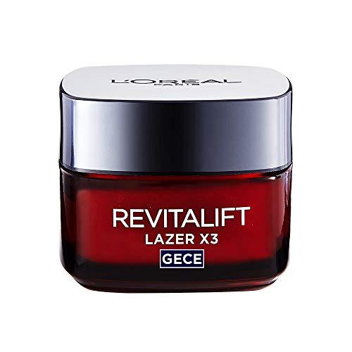 L\'Oréal Paris Revitalift Láser x3- Crema antiedad de noche con ácido hialurónico
