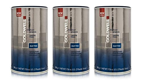Goldwell 3 er Pack Goldwell Oxycur Platin Dustfree Bleach 500 g