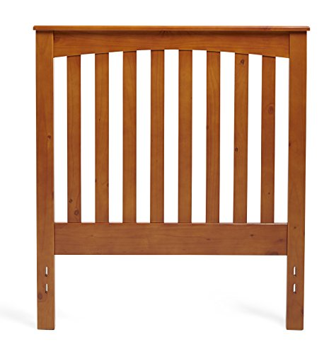 Mantua Rake Style Wood Headboard, Golden Oak, Twin