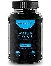 WATER LOSS – dräneringskomplex – 90 högdoserade och vegana dräneringstabletter – 100 % naturlig diuretika – brännhet – grön te – lejontänder – kalium – laboretestestestad – Made in Germany