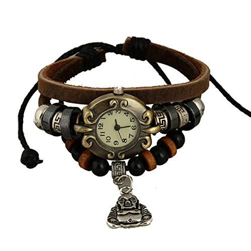 ZFYM Vintage Montre de Mode en Cuir Bracelet personnalité Montre Tendance étudiant à la Main Parfaite décoration
