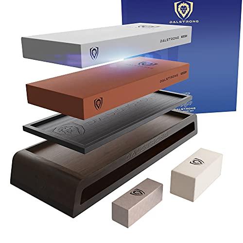 1-DALSTRONG Premium #1000/#6000 Kit Whetstones