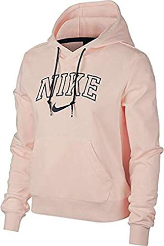 Nike Herren AW77 Fleece French Wejd Hoody Jacke Sweatshirt, Washed Coral/MIDN, XS