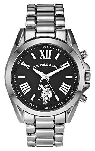 U.S. Polo Assn. Women's Quartz Watch with Alloy Strap, Black, 16 (Model: USC40436AZ)