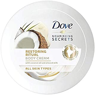 [Dove ] ボディクリーム250ミリリットルを復元鳩栄養秘密のココナッツオイル - Dove Nourishing Secrets Coconut Oil Restoring Body Cream 250ml [並行輸入品]
