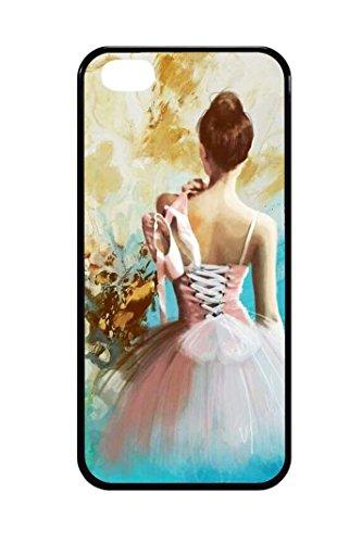 Bkstuff Cover Custodia TPU Gomma Danza Classica Ballerina Scarpe Scarpette per Vari Modelli (iPhone 5 5s SE)
