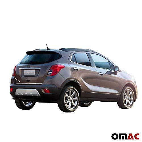 Kofferraumleiste Heckleiste Kompatibel mit Opel Mokka 2012-2020 Edelstahl Chrom