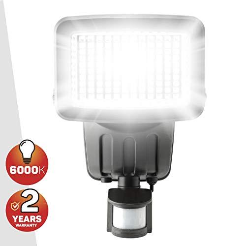 Solarlampen für außen mit bewegungsmelder, 120 SMD LED Solarbetrieben Sicherheitslicht - Wasserfest Solarleuchten für Außen, Garten, von SPV Lights (2 Jahre kostenlose Gewährleistung inklusive)