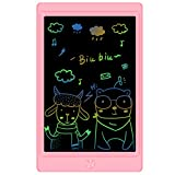 Sunany Tableta de Escritura LCD 8,5 Pulgadas Color, Tableta de Dibujo LCD, Writing Tablet con Teclas Borrables,Regalos para Niños, Juguete Educativo(Rosa)