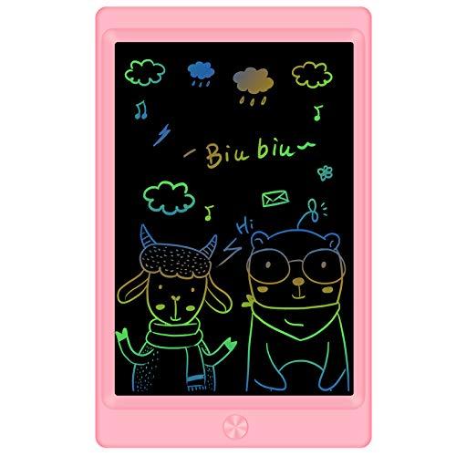 Sunany Tableta de Escritura LCD 8,5 Pulgadas Color, Tableta de Dibujo LCD, Writing Tablet con Teclas Borrables,Regalos para Niños, Juguete Educativo(Rosa)