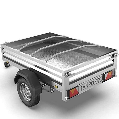 Tarpofix® Anhänger Planenbügel Flachplanenbügel (3er Set) - Universell anpassbarer Haltebügel für Anhängerplane (100-145 cm) - langlebige & robuste Alu Bügel für Flachplane - 100% Aluminium