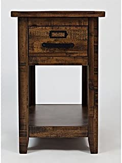 Jofran Cannon Valley End Table in Brown
