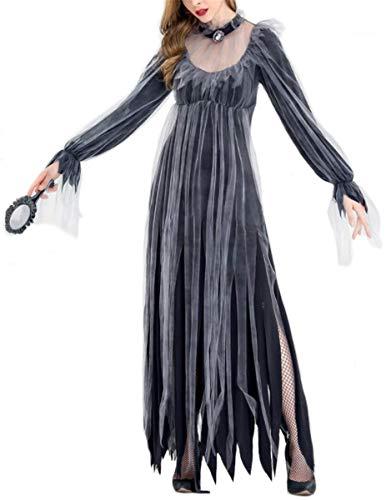 Emin Damen Kleid Sexy Geisterbraut Zombiekostüm Kostüm Halloweenkostüm Braut Karnevalskostüm Frauenkostüm Horror Damenkostüm Vampir Teufel Zombie Braut Brautkleid Damen Kostüm Erwachsenenkostüm