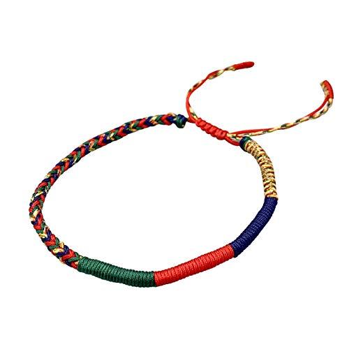 Reclaiming Zen Joyful Tibetan Buddhist Handmade Lucky Knot Rope Bracelet