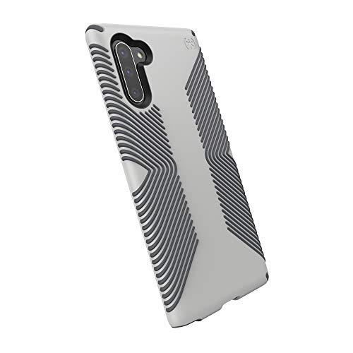 Speck Presidio Grip Samsung Galaxy Note 10 Case, Marble Grey/Anthracite Grey