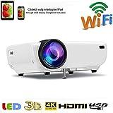 SOTEFE WiFi Vidéoprojecteur-Mini Projecteur Portable 4000 Lumens Full HD 1080P Rétroprojecteur...