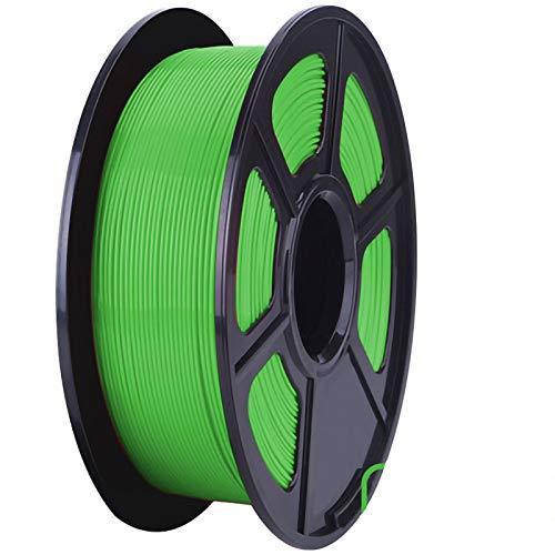 ZXC Pla Filament 3D Pen Filament Refills 1.75mm Accuracy ± 0.02 100% No Bubble 1kg 2.2lb No Smells and Easy To Peel Off Filament for Most 3D Printers(Color:green)