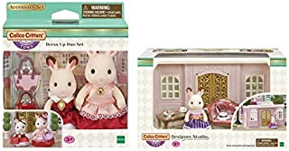 Calico Critters Town Dress Up Duo Set Bundled with Designer Studio