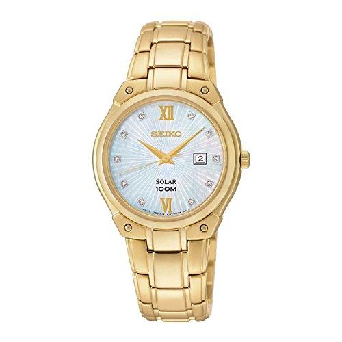 Reloj Seiko Solar Sut216p1 Mujer Nácar