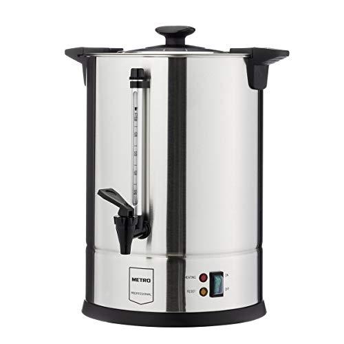 METRO Professional GCM4011 Koffiezetapparaat, 10,5 liter, 70 kopjes, 1650 W, met rondfilter, warmhoudfunctie, oververhittingsbeveiliging, koele buitenmuur, dekselgreep