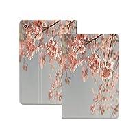 """iPad Pro 11"""" 第2世代 2020 (A2228 A2231) 桃、日本の風景桜の木桜自然写真春の到来装飾的、青灰色のal 桃 軽量 TPU レザー スマート 耐衝撃 傷防止 クリア ハード スタンド オートスリープ ウェイクアップ 機能 青灰色のal"""
