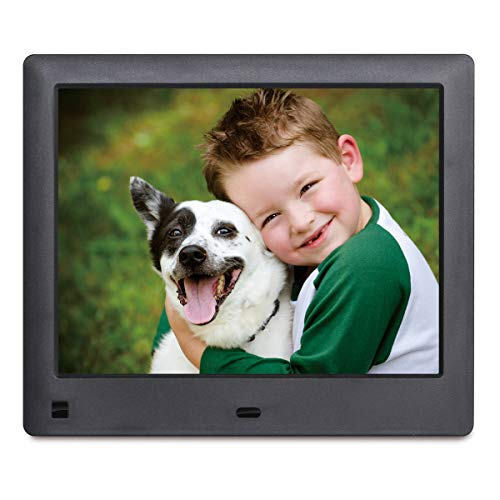 LOVCUBE 8-Inch Digital Photo Frame L08X - Digital Picture Frame with 1024x768 HD Display, Motion Sensor, Photo Auto-Rotate, USB and SD Card Slots and Remote Control