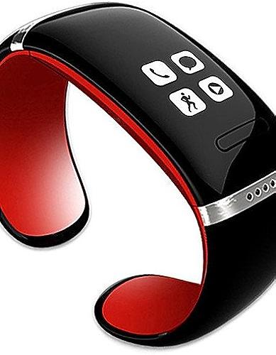 Lemumu L12S L'OLED bleutooth Bracelet Watch Display Music Player Anti-fonction perdue, rouge