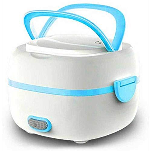 JKLJKL Elektrische lunchbox, levensmiddelen-verwarmingsstoom, met roestvrijstalen kom, eierkoker, lepel, maatbeker, voor op kantoor en op school