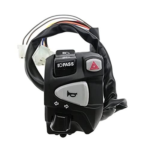 ZHANGMEI Ymq Tienda 7/8'22mm Motorcycle MangyBar Controll Interruptor de Control de la luz de Giro del Interruptor de la señal de la señal Proteger Las Piezas