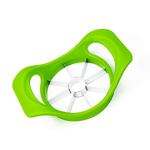 Professional Apple Slicer, Corer, Cutter, Divider with 8 Stainless Steel Sharp Blades,Premium Dainty Gadget for Apples and More, Green