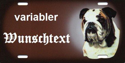 Hundeschilder Bulldogge selbst gestalten und Bedrucken ✓ Hundewarnschilder ✓ Hinweisschild ✓ Verbotsschild