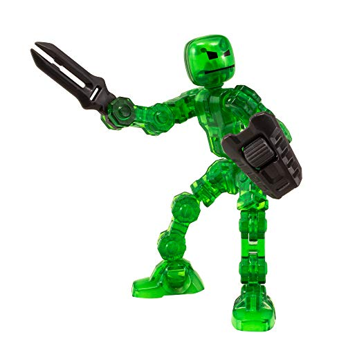 Zing Klikbot Helix - Series 1 - Green - Stop Motion Animation Toy Figure