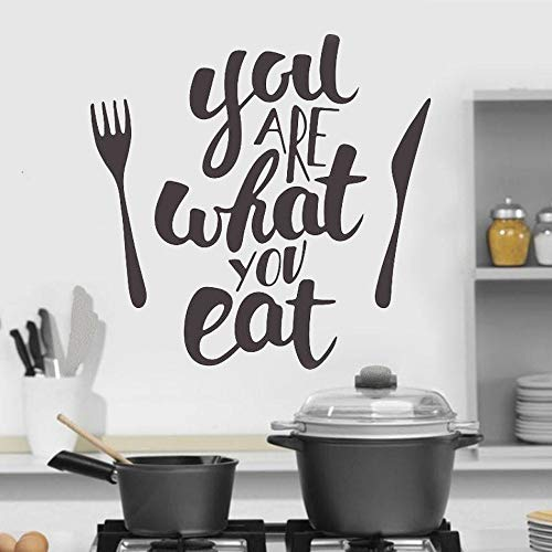 Kitchen wall decoration what are you eating vinyl sticker western restaurant mural art decoration decal 63X64cm