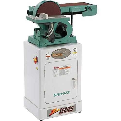 "Grizzly Industrial G1014ZX - 6"" x 48"" Belt/9"" Disc Combo Sander with Cabinet Stand"