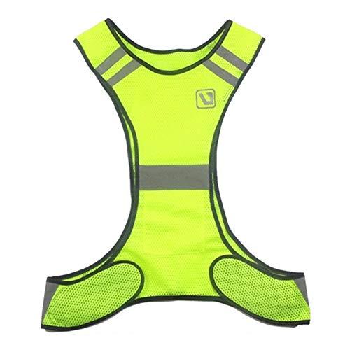 HYDKU Outdoor Laufen Warnweste einen.Kreislauf.durchmachenweste Leichtbau Sicherheit Anglerjacke Sportausrüstung for Frauen Männer Jogging Wandern (Farbe : Fluorescent Yellow)