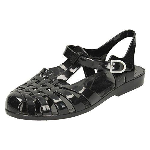 Damen Spot On Jelly Shoe F0711, Schwarz - Schwarz  - Größe: 39 EU
