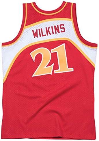 Mitchell & Ness Dominique Wilkins 1986-87 Road Atlanta Hawks Replica Swingman NBA Jersey HWC Basketball Trikot