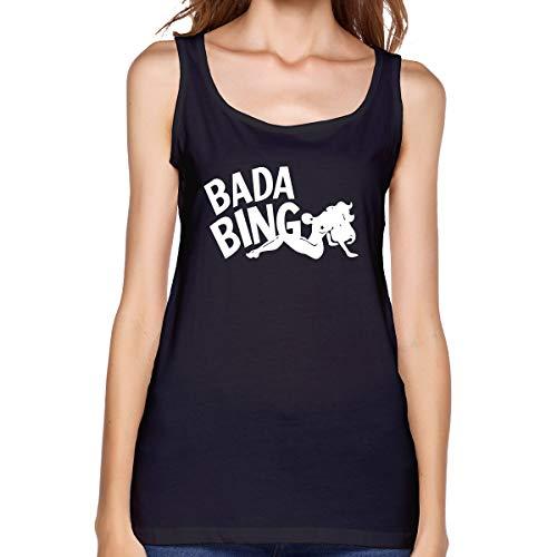 ¡Bada Bing! Sarcástico Mujeres Tank Top sin Mangas Camisetas Deportes Camiseta...