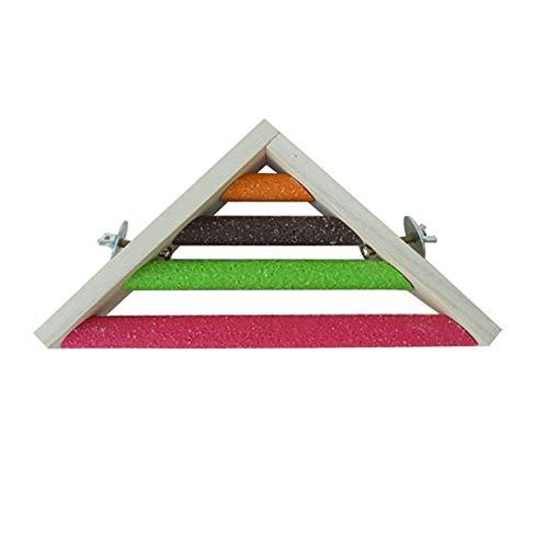 Pájaro perca soporte de madera natural loros jaula de aves plataforma de juguete accesorios para pequeños medianos loros rata periquito gerbil