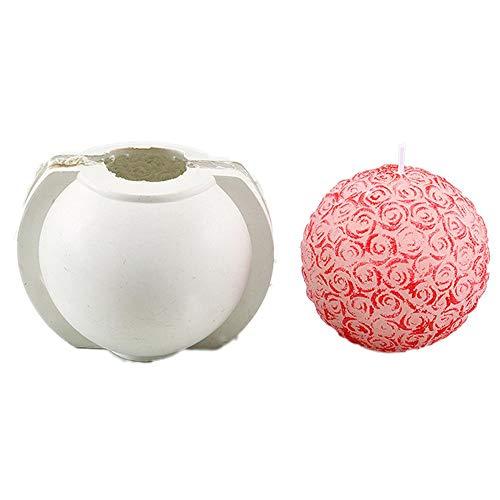 Funihut bakvormen DIY siliconen bakvorm rozenbol 3D roze gebruikt voor zeep, kaarsen, cakevormen