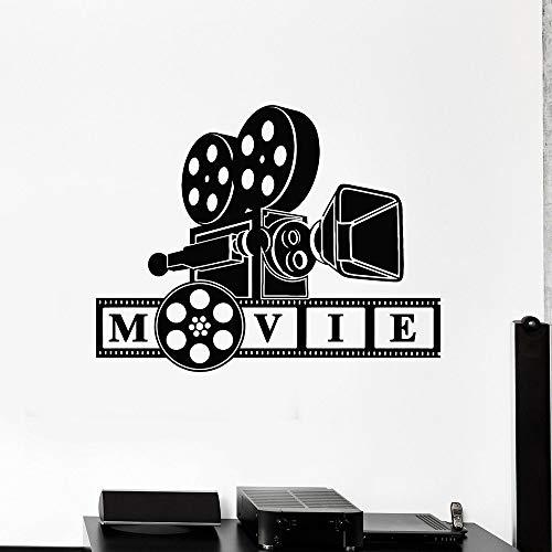 Cámara de fotografía retro película de película calcomanía de pared sala de disparos sala de estar familiar decoración de dormitorio papel tapiz A5 74x57cm