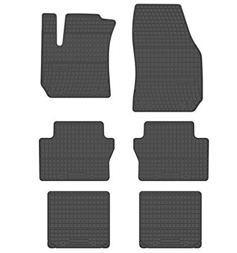All4You Gummimatten Original Qualität Fußmatten Gummi schwarz 6-teilig