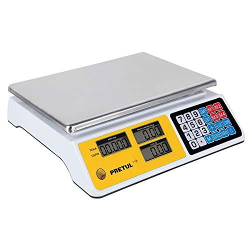 Truper BASE-40P Báscula Pretul electrónica multifunciones capacidad 40 kg, color, pack of/paquete de 1
