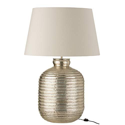 J-line - Lámpara y pantalla redonda (aluminio), color gris