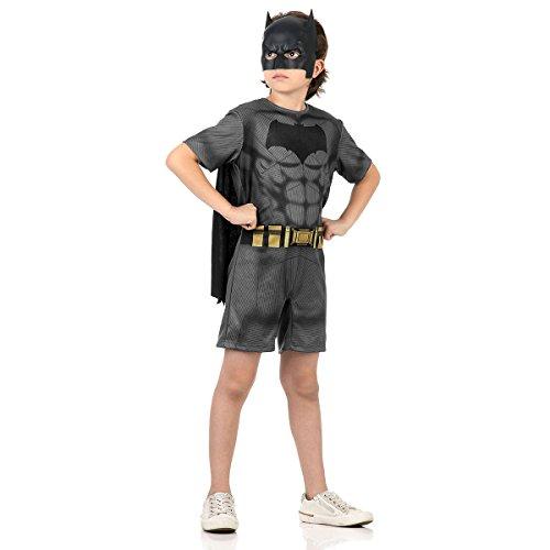 Batman Curto Infantil Sulamericana Fantasias Cinza M 6/8 Anos