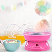 Hemousy Cotton Candy Machine, 400W Portable Cotton Candy Maker, Red Candyfloss Machine with Sucker, Makes Hard Candy, Sugar, Cotton Candy Machine for Kids
