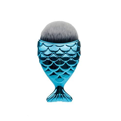 1 Professional Mermaid Shape Makeup Brush Foundation Cosmetics Fish Brush Makeup Tool Set Powder Face Blush Brush