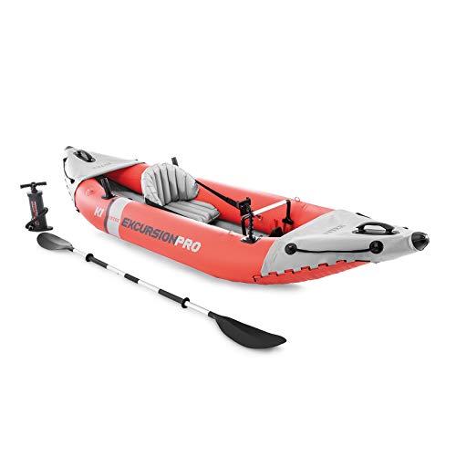 Kayak Hinchable INTEX K1 Excursion Pro 1 Remo + hinchador