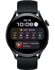 HUAWEI WATCH 3 | Ansluten GPS-smartklocka med Sp02 och hälsoövervakning hela dagen | 14 dagars batteritid - svart fluorelastomerrem